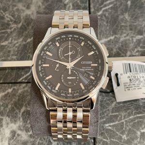 Citizen Watches Mens World Chronograph A-T NWT
